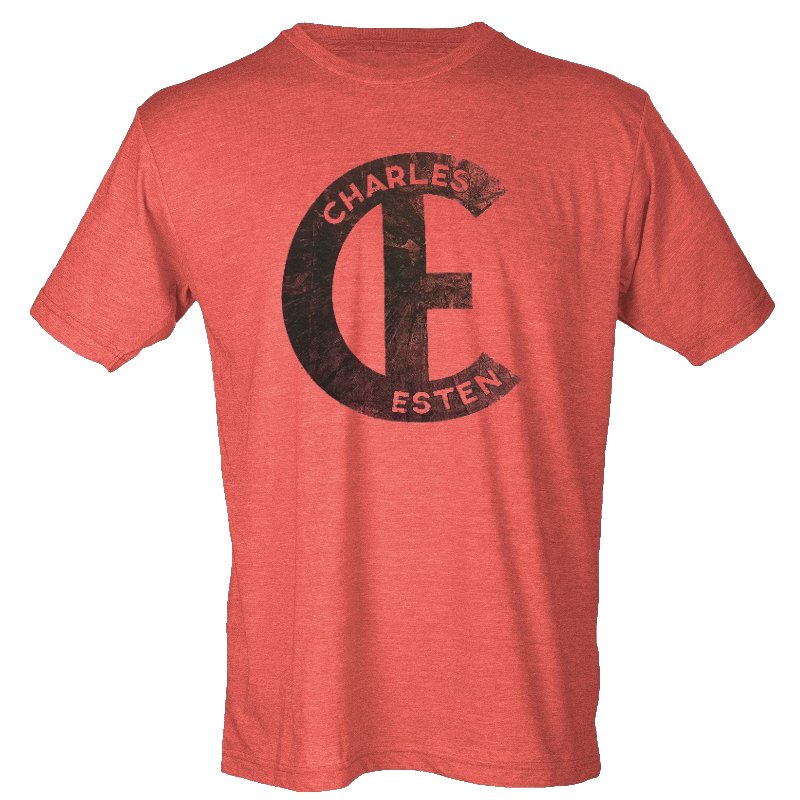 Charles Esten Heather Red Logo Tee