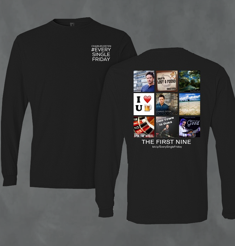 Charles Esten Long Sleeve Black Tee