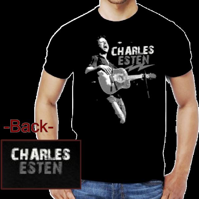 Charles Esten Black Tee- Live Shot