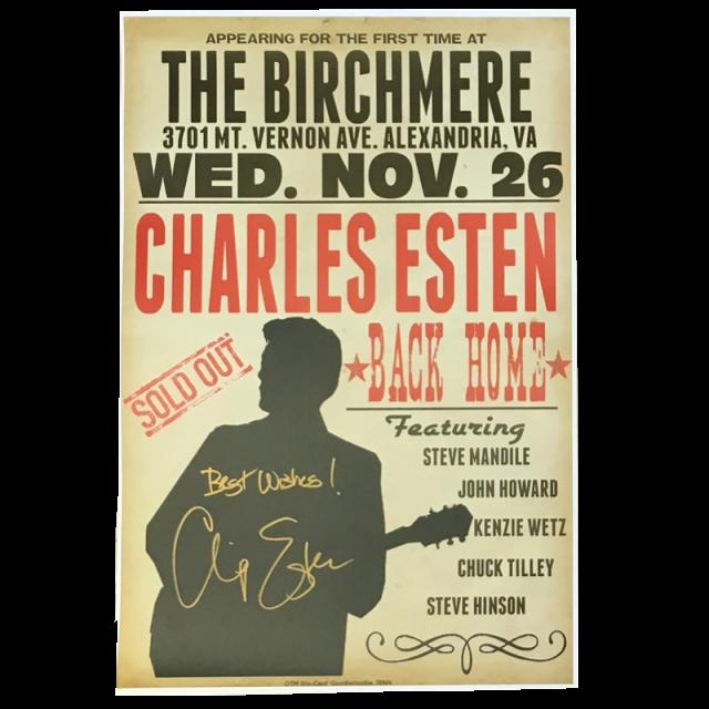 Charles Esten AUTOGRAPHED 2014 Birchmere Nov. 26 Poster