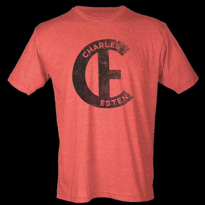 Charles Esten Heather Red Logo Tee