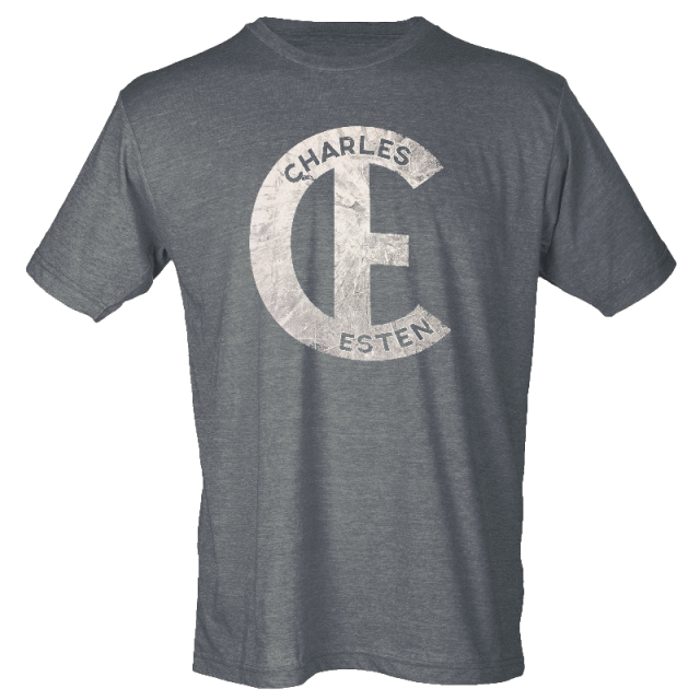 Charles Esten Heather Charcoal Logo Tee