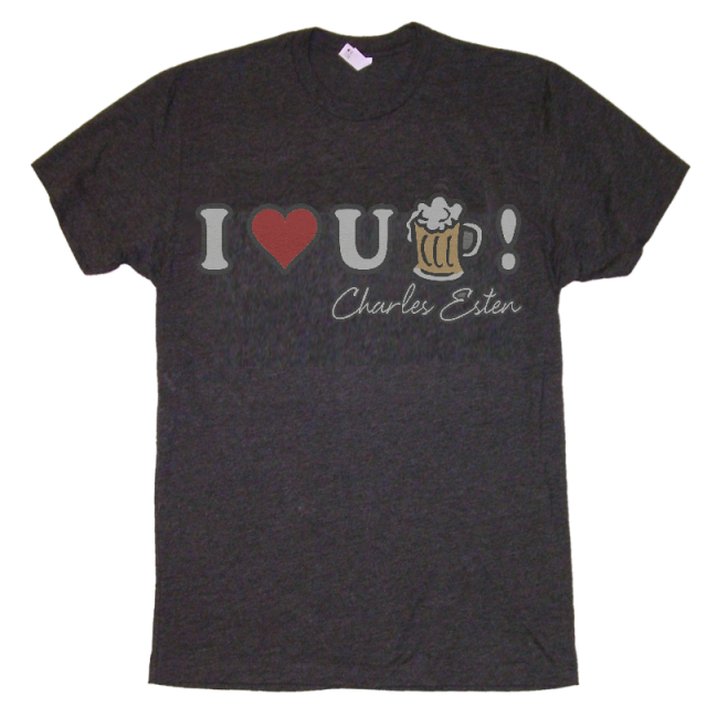 Charles Esten Heather Navy Beer Tee