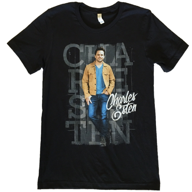 Charles Esten Black Photo Tee- Tan Jacket